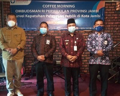 Survei Kepatuhan, Ombudsman Jambi Berdiskusi dengan OPD Kota Jambi