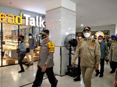 Kapolda Jambi Bersama Walikota Jambi Tinjau Pusat Keramaian di Beberapa Mall