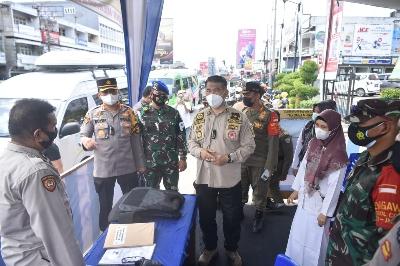 Walikota Fasha Tinjau 8 Pos Pengamanan Idul Fitri 1442H