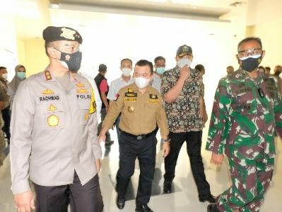 Kapolda Dampingi Gubernur Jambi Cek RS Raden Mataher