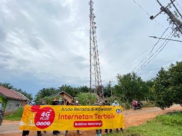 Sungai Baung, Teratai dan Desa Aro Kec Muara Bulian Sudah Dijangkau Signal 4G Plus Kuat  IM3 OOREDOO