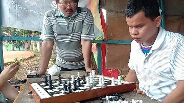 Atlet Difabel Tunanetra Tantang Gubernur Jambi Tanding Catur