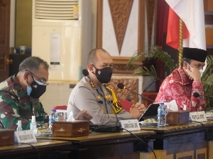 Kapolda Jambi Hadiri Rapat Pengamanan  Pemantapan Pelaksanaan MTQ Ke-50 Tingkat Provinsi Jambi