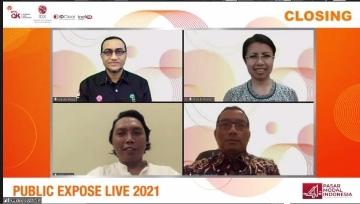 Target Peserta Terlampaui, Public Expose LIVE 2021 Dihadiri 49.395 Peserta