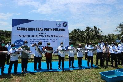 Menteri Trenggono Harapkan Jambi Punya Kampung-Kampung Perikanan Budidaya