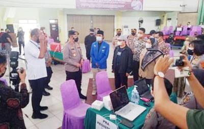 Kapolda Jambi Pantau Pelaksanaan Vaksinasi Massal di Kampus UIN STS Jambi